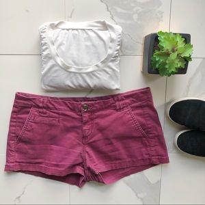 Express Purple Short Shorts